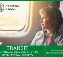 TRANSIT – Call for susTainable tRAvels for uNipv International mobiliTy